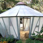 Tapered-wall greenhouse