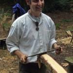 Paul making yurts